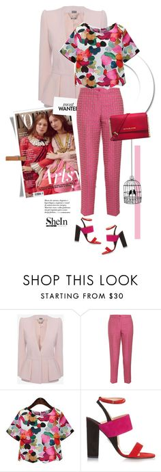 """""""Lady in Pink"""" by pippi-loves-music ❤ liked on Polyvore featuring Alexander McQueen, Etro, Paul Andrew and Michael Kors"""