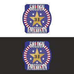 Projekt graficzny loga Golden American #projektgraficzny #graphicdesign #logo #goldenamerican #kielce #mgraphics #buskozdroj #nadajemyksztaltypomyslom www.mgraphics.eu