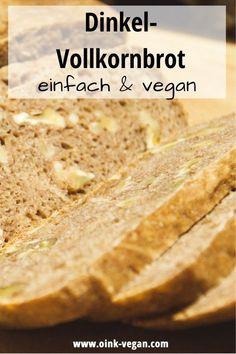 Brot selbst zu backen ist nicht allzuschwer & selbstgebackenes Brot ist einfach richtig, richtig lecker. Hier gehts zum Rezept. #vegan #brot #dinkeln #dinkelvollkorn #rezept Banana Bread, Desserts, Food, Vegan Bread, Brown Bread, Vegane Rezepte, Proper Tasty, Simple, Tailgate Desserts