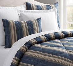 Greer Stripe Comforter & Sham