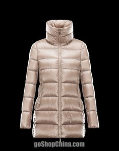 Womens Moncler Angers Down Jackets Fur Hat Gold [2899934