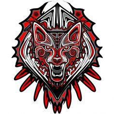 #WolfTattooHaidaArt - #Wistitee Vote for this #Design, Please! Thanks! :) ))) https://www.wistitee.com/en/designs/wolf-tattoo-haida-art/