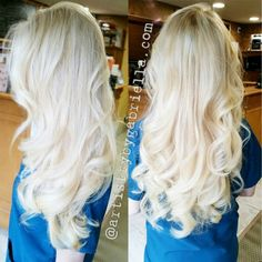 I'm definitely doing a platinum balayage ombre for my next appointment.... So pretty!!!