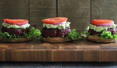 BBQ Beef Beet Burgers - Running to the Kitchen