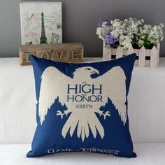 House Arryn Game of thrones Cotton Pillow
