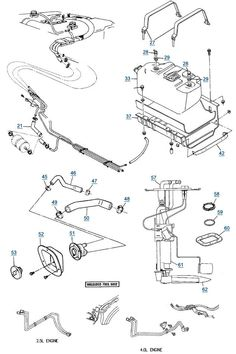 89 jeep yj wiring diagram | yj wrangler fuel parts - filler hose, fuel  filter kit, strap kit