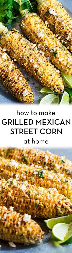 Make Sensational Mexican Street Corn at Home Do you like grilled corn on the cob? You should try this sensational grilled Mexican street corn. [ad]Do you like grilled corn on the cob? You should try this sensational grilled Mexican street corn. Mexican Food Recipes, New Recipes, Vegetarian Recipes, Healthy Recipes, Corn Cob Recipes, Mexican Food For Party, Recipies, Eat Healthy, Vegetable Side Dishes