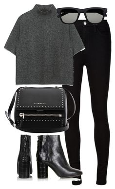 """Untitled #2830"" by angieswardrobe ❤ liked on Polyvore featuring AG Adriano Goldschmied, Zara, Topshop, Givenchy and Yves Saint Laurent"