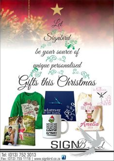 Need special gifts for special people? Let be your source of personalized gifts this Christmas