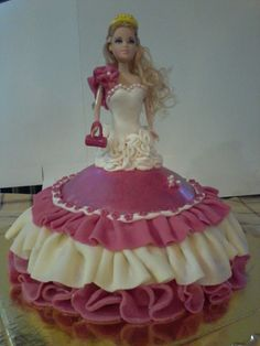 Pink dress Dolly birthday Cake