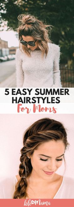 The days of spending hours on our hair are over! Now that we are moms, we have willingly embraced the messy bun and dry shampoo. These easy summer hairstyles are perfect for any woman, especially moms. summer hair styles 5 Easy Summer Hairstyles For Moms Camping Hairstyles, Easy Hairstyles For Medium Hair, Asymmetrical Hairstyles, Everyday Hairstyles, Hairstyles With Bangs, Trendy Hairstyles, Medium Hair Styles, Braided Hairstyles, Curly Hair Styles