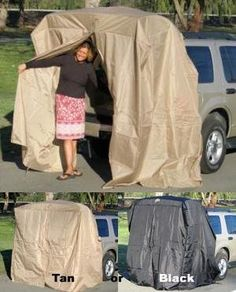 Portable Dressing Room SUV Tent Tailgating Shelter AddaCabana SUV Tent. Great for surfers, campers, tailgaters, soccer moms, construction workers, outdoor enthusiasts, etc.                                                                                                                                                                                 More