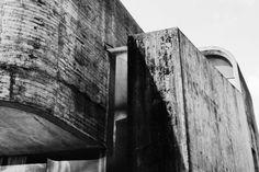 "Exterior Detail of Paul Virilio and Claude Parent's, ""Church of Sainte Bernadette du Banlay"", (1966)"