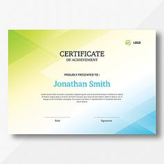 achievement,appreciation,award,background,certificate,certification,design,frame,template,appreciate,abstract,shapes,green,blue Certificate Design Template, Certificate Of Achievement, Abstract Waves, Frame Template, Simple Shapes, Your Message, Company Names, Business Card Design, Your Design