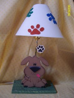 Little dog lamp for kids room decor Woodworking Projects Diy, Diy Projects, Kids Lamps, Little Dogs, Diy Toys, Decoupage, Kids Room, Room Decor, Carving