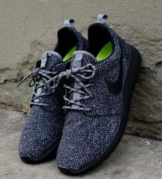 Nike-Womens-Mens-Roshe-Run-Black-Grey-speckle-safari-all-sizes