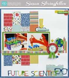 Future Scientist Layout from Paper & Glue Collection. #echoparkpaper