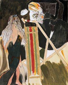 R. B. Kitaj (American, 1932-2007), Priest, Deckchair and...