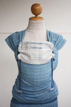 BaBy SaBye Wrap Mei Tai sling hand-woven two-side WITH A HOOD model46 LightBlue/WhiteBlue
