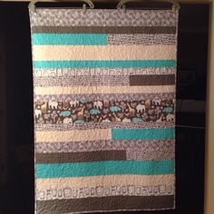 A new quilt for our newest grandson to be born this weekend.  We can't wait to meet the little guy.