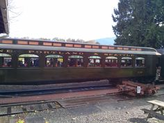 In guests rode in the newly rehabilitated, freshly lettered coach Halloween Train, Railway Museum, Train Rides, North West, Halloween Decorations, Windows, Building, Buildings, Construction