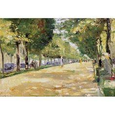 The Tiergarten Park Berlin Canvas Art - Lesser Ury (20 x 28)