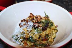 Roasted Butternut Squash and Rainbow Chard Risotto - The Girl in the Little Red Kitchen