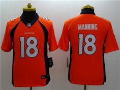 43bb7bd33 Nike Broncos Peyton Manning Orange Team Color Youth Stitched NFL New