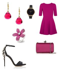 """""""Date night #5"""" by jaydahrich ❤ liked on Polyvore featuring Dolce&Gabbana, Roberto Cavalli, Charming Life and Olivia Burton"""
