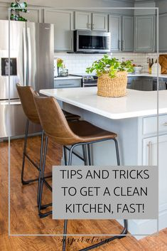 Love a clean kitchen? Along with my easy tips, learn what tools you need to get a clean kitchen fast and keep it that way! Deep Cleaning Tips, House Cleaning Tips, Car Cleaning, Spring Cleaning, Cleaning Hacks, Cleaning Products, Cleaning Solutions, All You Need Is, How To Remove Kitchen Cabinets
