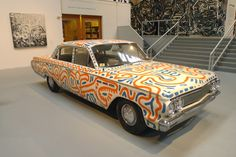 car painted by Keith Haring.  Part of the current MOCA show  Art in the streets.