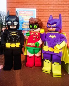 Weve got very special guests at our #Farnborough store to celebrate our opening day! Stop by for free face painting a DJ & lots more fun! See you there!  #lego #legobatman #robin #storeopening #party #DJ #Candyfloss #free #facepainting #familyfun #weekendfun #batman #batgirl