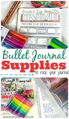 The best bullet journal supplies I recommend to organize your journal. My favorite pens, markers and tools for the best journal ever. Bujo supplies.