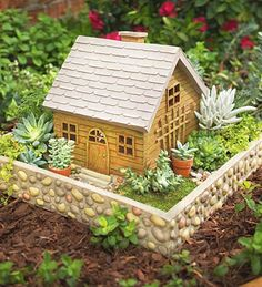 m rchenhafter miniatur garten dekoration pflanzen fairy garden pinterest dekoration und garten. Black Bedroom Furniture Sets. Home Design Ideas