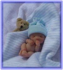 "~ Ooak Mini 1.5"" Tiny Newborn Baby Boy *BRANDON* Sucking his Thumb ~"
