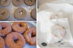 apple cider donuts as wedding favors for our september wedding in Boston!