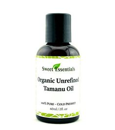100 Pure Unrefined Organic Tamanu Foraha Oil Imported from Tahiti Cold Pressed Scar Reduction Acne Prevention Healing Age Spot Reduction Moisturizing Treat Prevent Eczema and Psoriasis By Sweet Essentials >>> See this great product. Best Face Products, Pure Products, Scar Reduction, Eczema Psoriasis, Rosacea, Tamanu Oil, Anti Aging Treatments, Acne Treatment, Cracked Skin