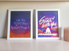 We Are Together Bulletproof: The Eternal Pearlescent 8.5 x 11 Art Print - Set of Two