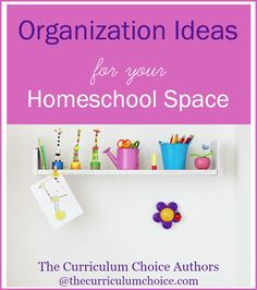 Organization ideas for your homeschool space from a variety of homeschools. From the kitchen table to dedicated spaces to organizing homeschool supplies!