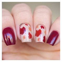 Autumn Leaf Nail Stencils ❤ liked on Polyvore featuring beauty products, nail care and nail treatments