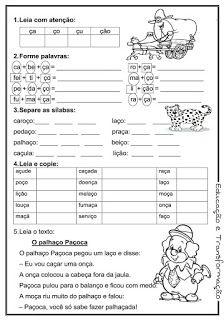Blog Educação e Transformação: 👍Reforço de português para o 1° e 2° ano Portuguese Lessons, Portuguese Language, Toddler Activities, Education, Ale, Reading Activities, Language Activities, Alphabet, Agenda Printable