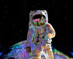 L'astronaute visionnaire Art Print 8 x 10 oeuvre par thoughtopian
