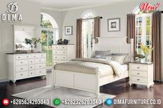 New Desain Kamar Set Minimalis Putih Duco Great Solid Wood Jepara BT-0840