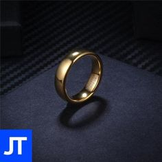 Anniversary Gold Ring - Mens - Jewellerytribe.com #MensRing #TungstenCarbide #CarbideTungsten Tungsten Carbide Rings, Polished Look, Wholesale Jewelry, Types Of Metal, Rings For Men, Anniversary, Wedding Rings, Engagement Rings, Gifts
