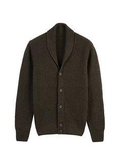 Zielony Kardigan Z Kołnierzem Szalowym Sw567   Suitsupply Online Store