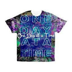 One Day at a Time Serenity Men's All Over Print T-> RECOVERY GIFTS, ART & CARDS> 22FISH22 graphics and fine art
