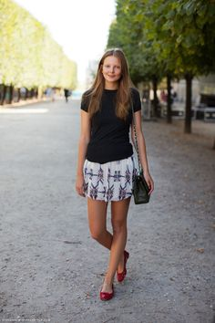 Isabel skirt + repetto flats