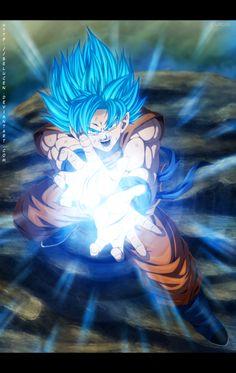SSGSS Goku - Kamehameha by belucEn