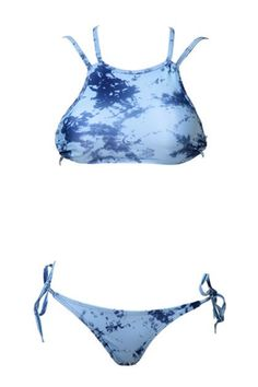 Cheap and fashionable bikinis and swimwear...Tie-dye bikini