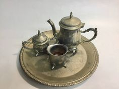 Silver Childs International Silver Tea Set | Vintage Tea Set | Tea Party | Silver Tea Set | Teddy Bear Picnic | English Tea Party by MarketplaceVintage1 on Etsy